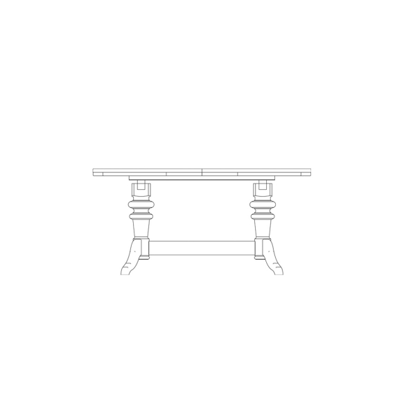 Round extending dining table 2 leaves