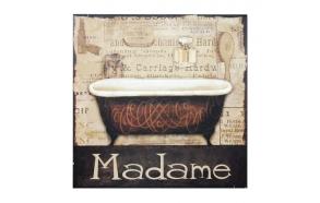 deko seinapilt Madame 30x30cm