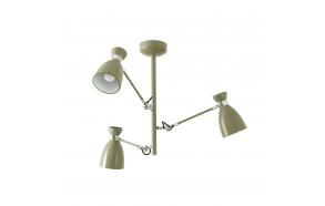 RETRO Green ceiling lamp, metal,3 x E14 20W