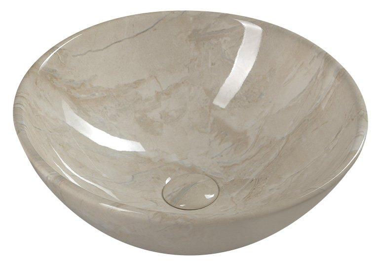 pesuallas Interia Dalma beige, 42 x 16 cm, pohjaventtiili ei kuulu toimitukseen