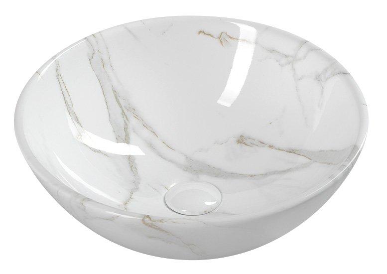 pesuallas Interia Dalma valkoinen, 42 x 16 cm, pohjaventtiili ei kuulu toimitukseen