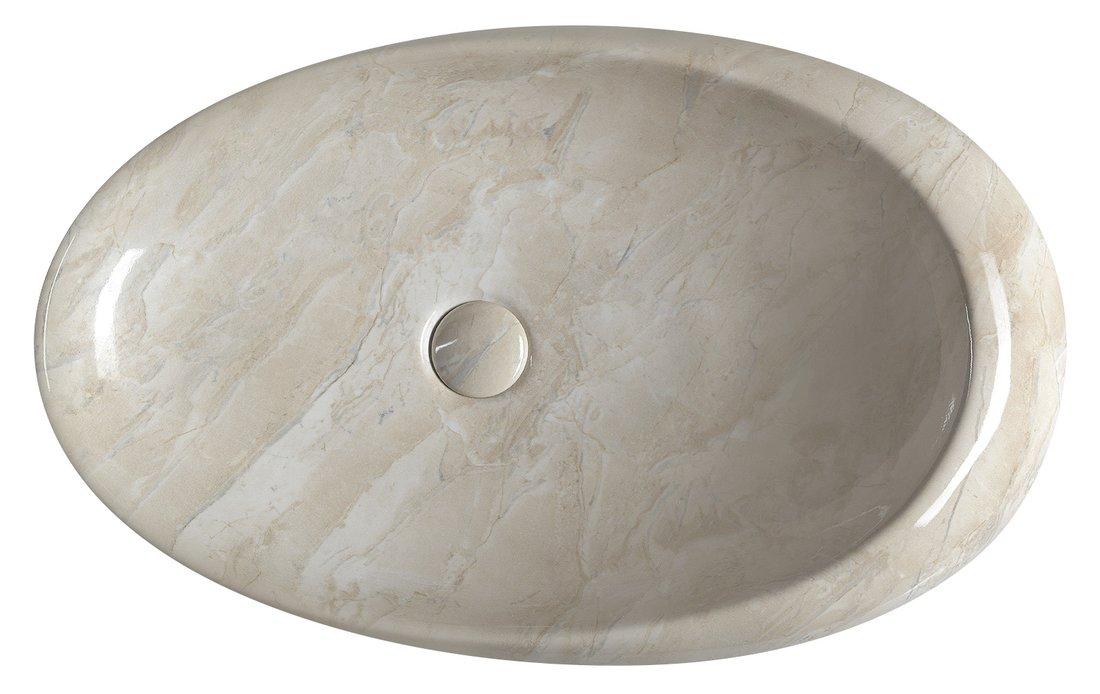 pesuallas Interia Dalma beige, 68x44x16.5 cm, pohjaventtiili ei kuulu toimitukseen