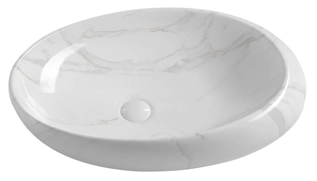 pesuallas Interia Dalma valkoinen, 68x44x16.5 cm, pohjaventtiili ei kuulu toimitukseen