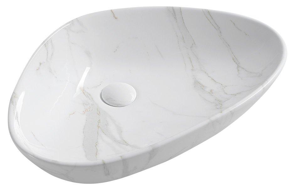 pesuallas Interia Dalma valkoinen, 58.5x39x14 cm, pohjaventtiili ei kuulu toimitukseen