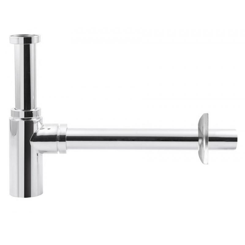 washbasin siphon 5/4', waste dia. 32mm, round, chrome
