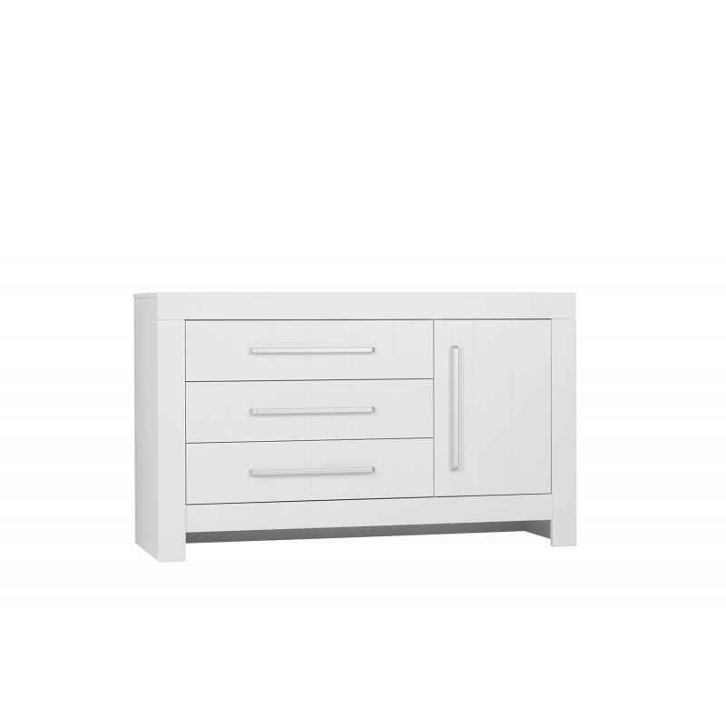 Calmo - 3-drawer + 1 door chest, white