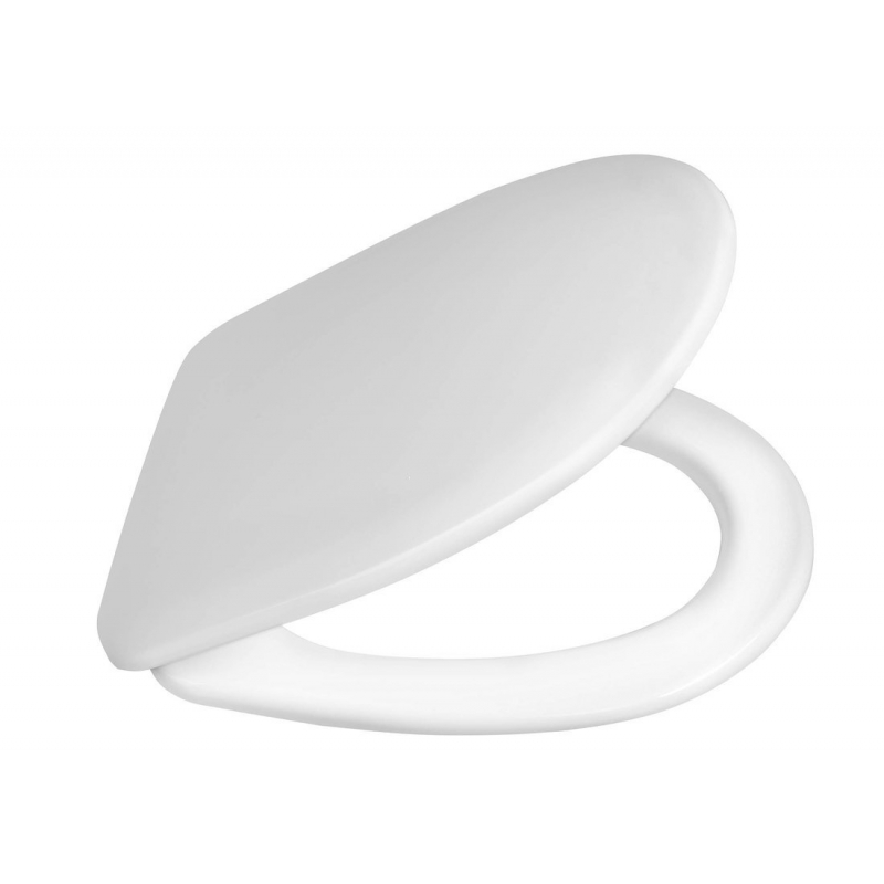 white duroplast seat for rimless wall hung toilet Riga