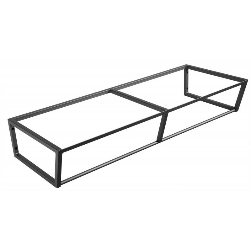 metallist valamukonstruktsioon Ska, 120 cm, matt must