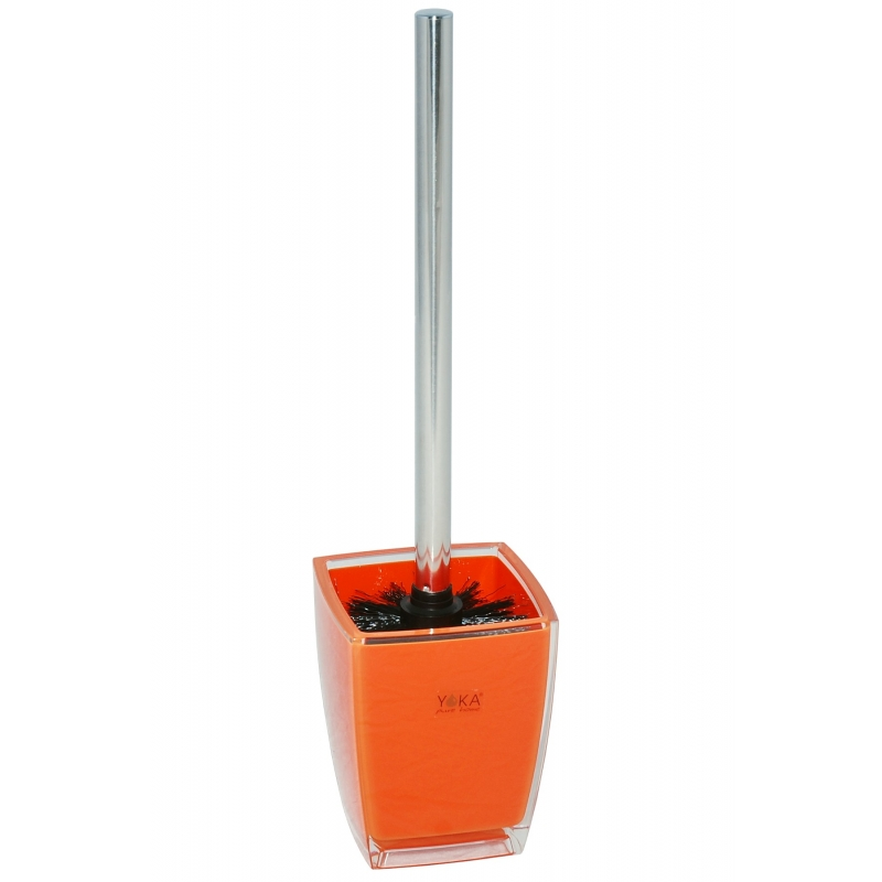 toilet brush w holder KATI ORANGE