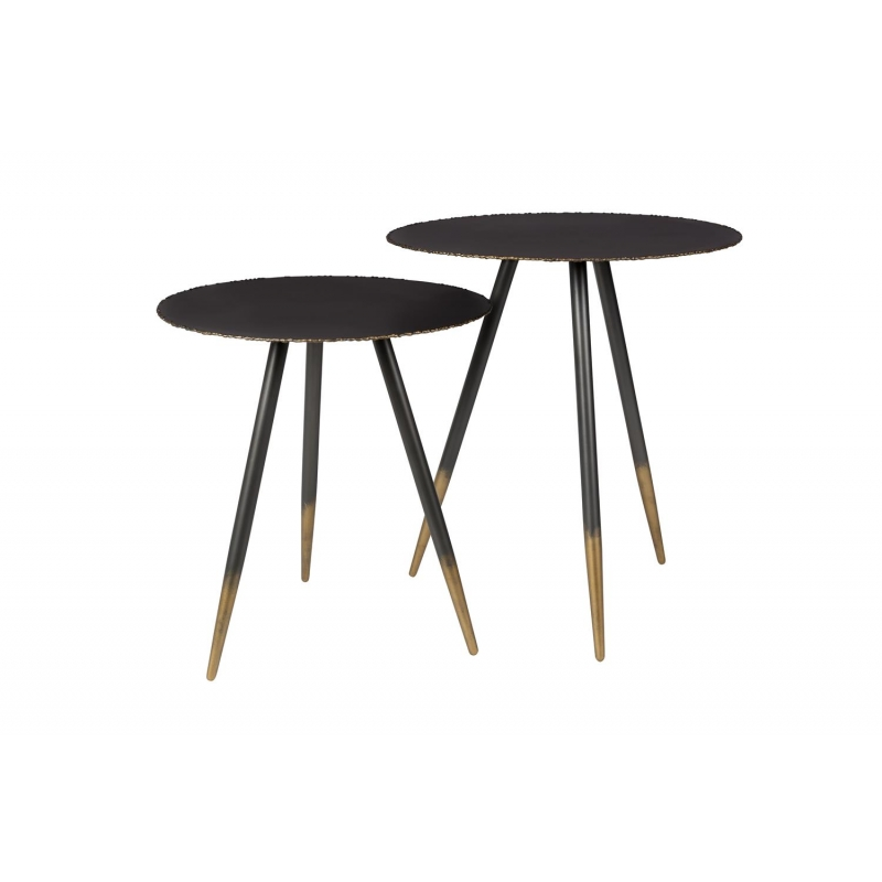 Sidetable 50 Cm.Side Table Stalwart Set Of 2 Diam 45 Cm H 50 Cm And Diam 40 Cm H 44 Cm
