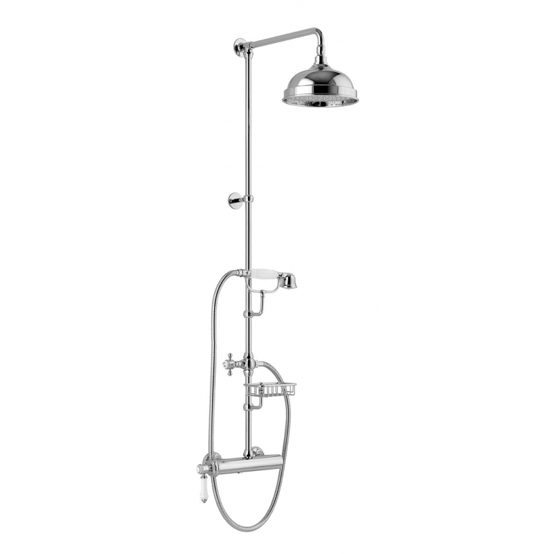 London Ii Shower Panel With Lever Mixer Soap Dish Height 1267mm Chrome