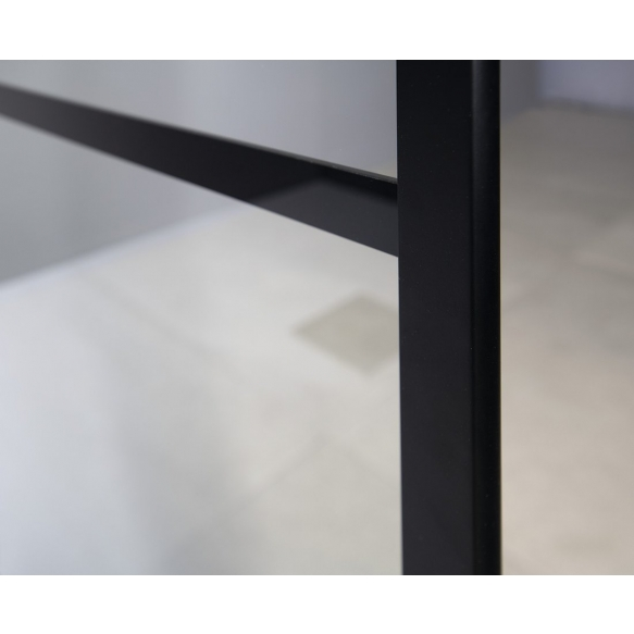 dušisein Cure Black 900 mm, matt must