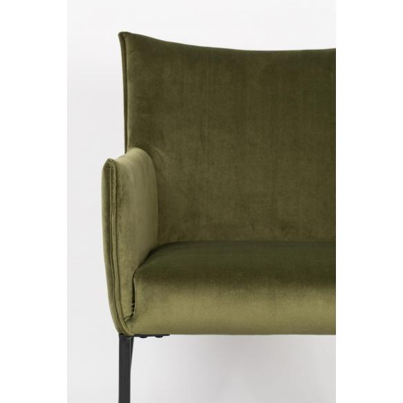 käetugedega tool Dion Velvet, Olive