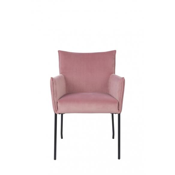 käetugedega tool Dion Velvet, Pink