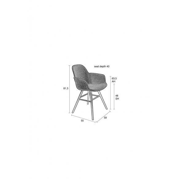 käetugedega tool Albert Kuip Soft Light Grey