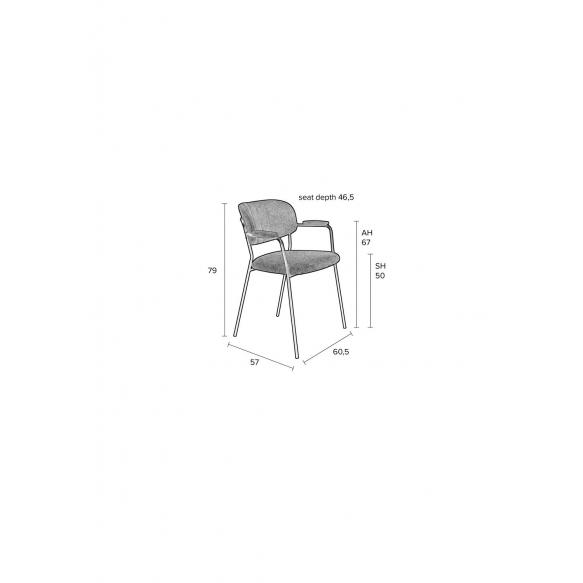 käetugedega tool Jolien must/hall