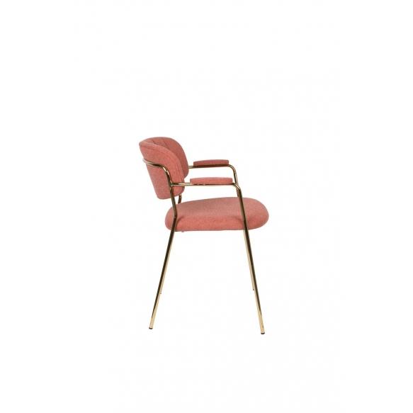 käetugedega tool Jolien kuld/roosa