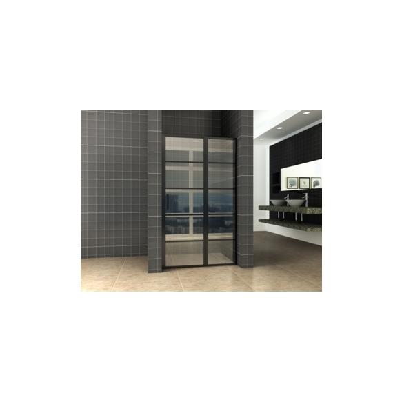dušiuks Horizon (R/L) 110 cm, 8 mm, matt must, nanotöödeldud klaas