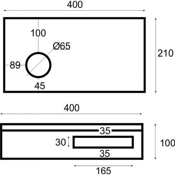 tammepuidust riiul valamu alla 40x21x10 cm, vasak