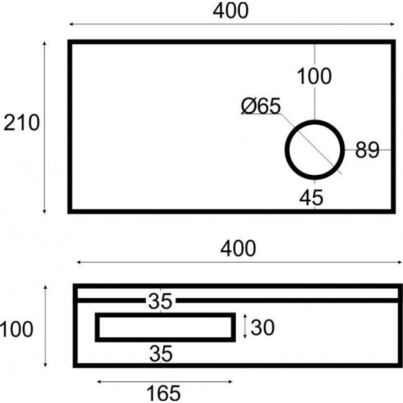 tammepuidust riiul valamu alla 40x21x10 cm, parem