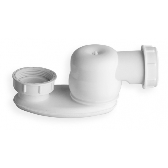 "siphon with nut 1""1/2, height 42mm, white"