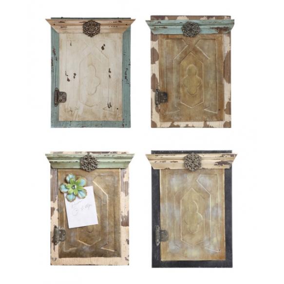 Puidust ning metallist valmistatud magnettahvel seinale, neli erinevat stiili