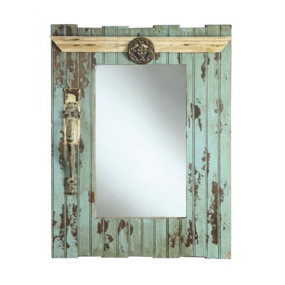 """23-1/2""""L x 30""""H Wood Framed Mirror, Mirror Size 13-1/2""""L x 20""""H,"""