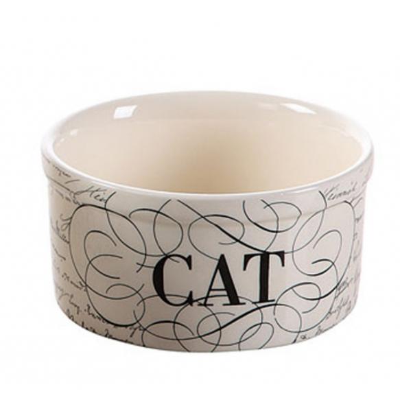 "5"" Round Dolomite Cat Bowl"