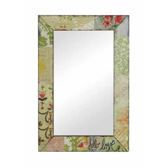 "14-1/4""L x 26""H Tin Framed Mirror ©"