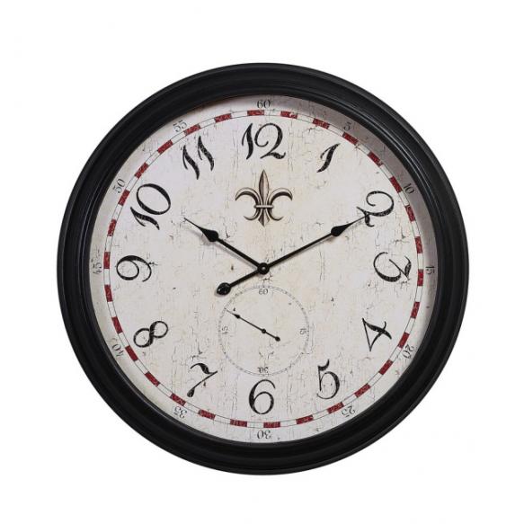 "31-1/2"" Round MDF & Metal Wall Clock"