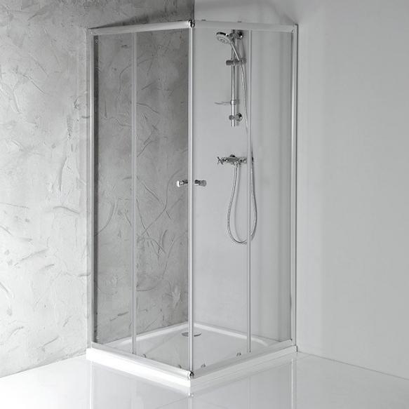 AGGA Shower Enclosure 900x900x1850 mm, clear glass