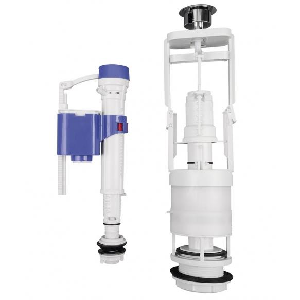 kahesüsteemne loputusmehhanism ja vee sisselaskeklapp, Sapho