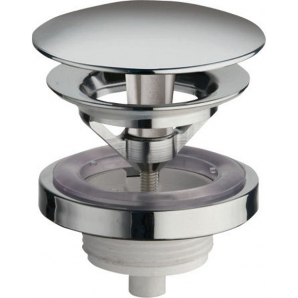 Free running unslotted round basin waste, V 5-60mm, chrome