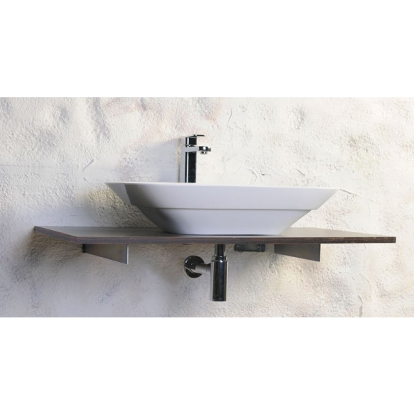 TAXI washbasin 63x42cm, Cast marble, white