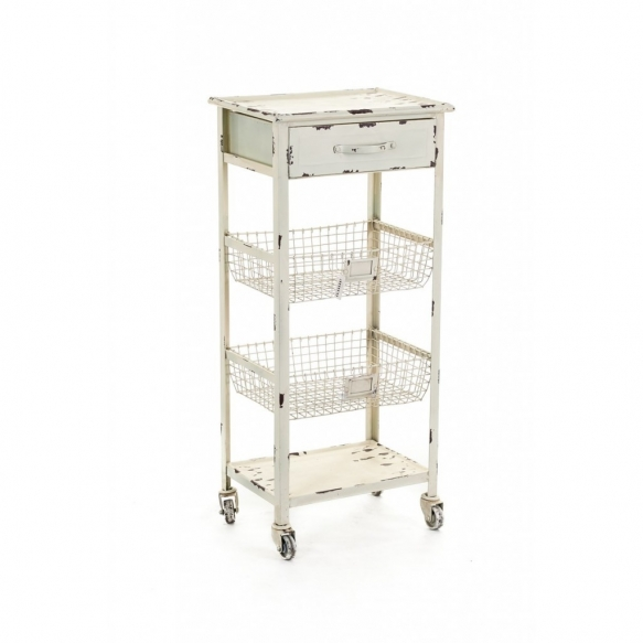 metal vintage drawer with wheels