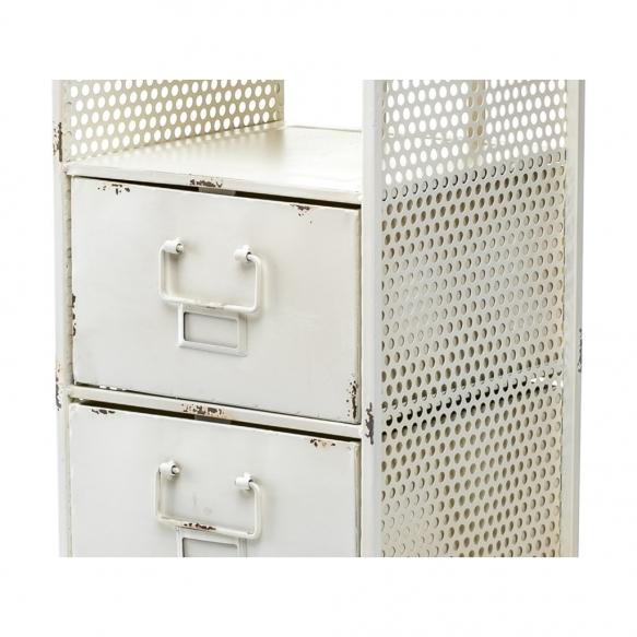metal vintage shelf with drawers
