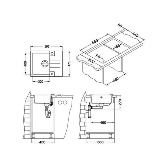 kivivalamu 59,5x47,5x16 cm, G55 beež, automaatsifoon