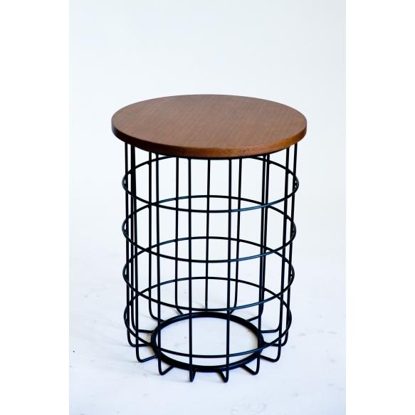 coffee table Mesh, wood+metal