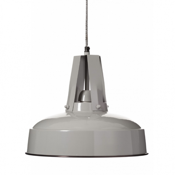 metal industrial pendant lamp, grey