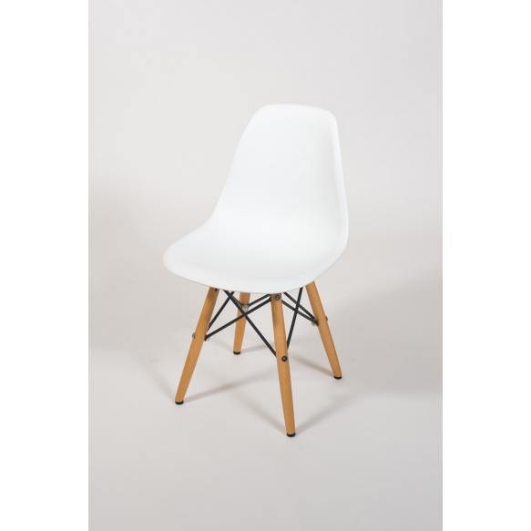 kids chair Alexis, white+beech feet