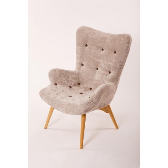 armchair Burg, grey fabric