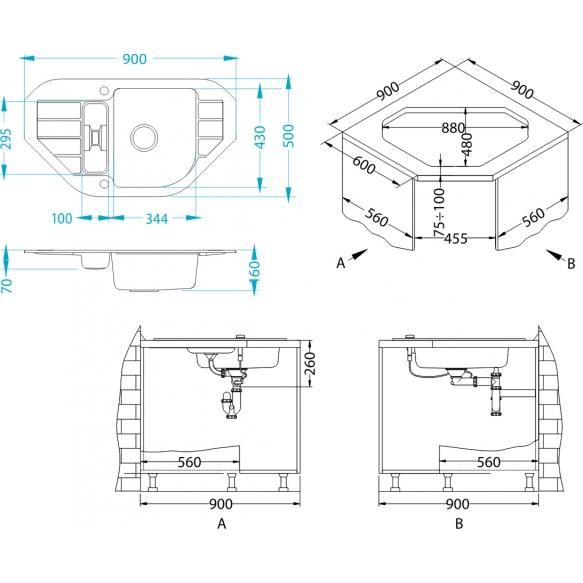 kivivalamu NIAGARA60-G11 90x50x16 cm, valge, automaatsifoon