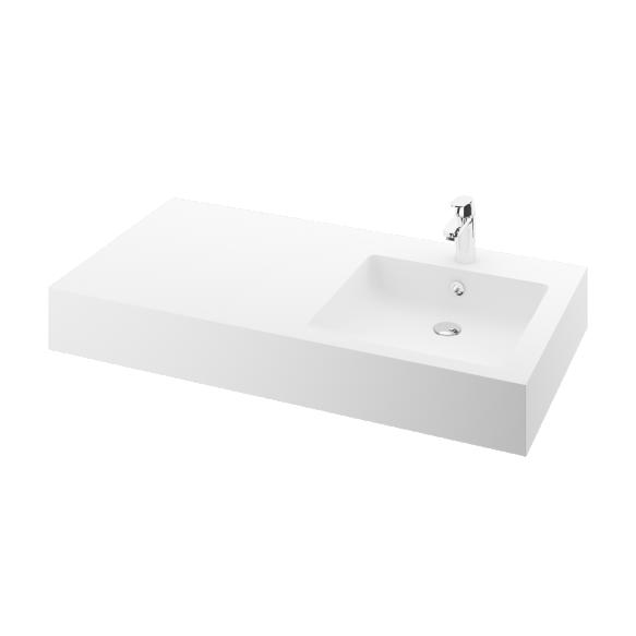 silkstone basin Credo 120cm,basin on  right, h 15 cm