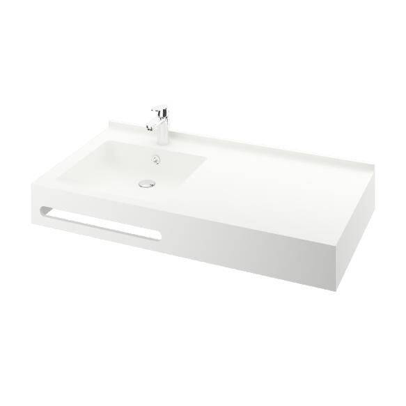 cut in towel holder for silkstone basin edge
