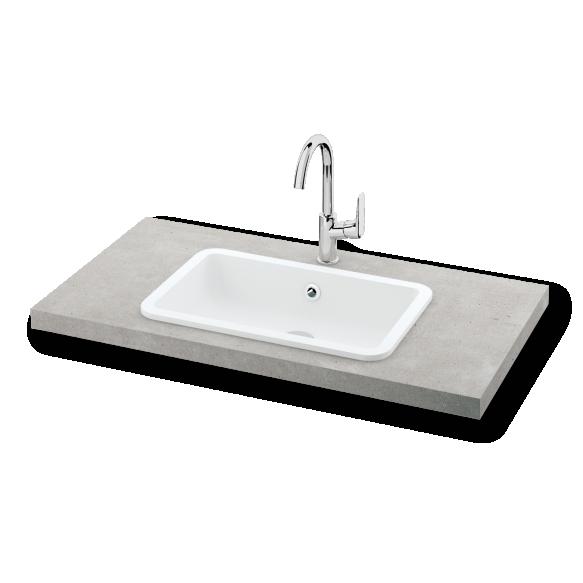 silkstone basin Opus, worktop mount