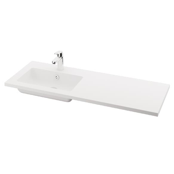 silkstone basin Opus 120cm,basin on  left