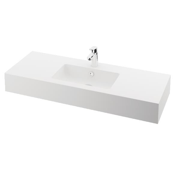 silkstone basin Opus 120cm,basin on centre, h 15 cm