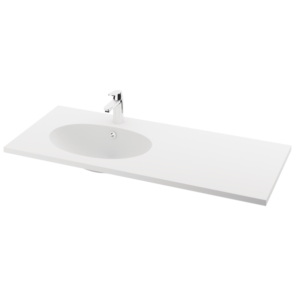 silkstone basin Ovo 120cm,basin on  left