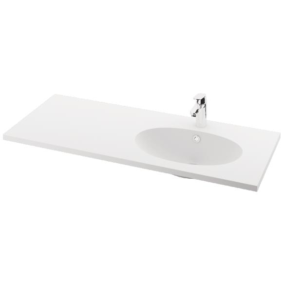 silkstone basin Ovo 120cm,basin on  right