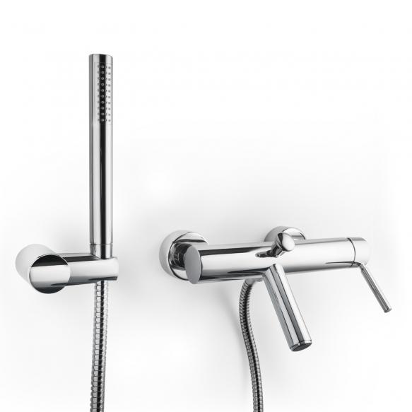 bath mixer with hand shower set Form A, mat black